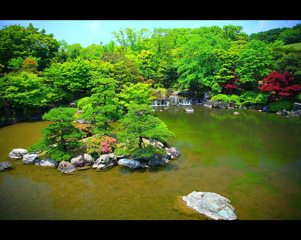 万博公園日本庭園1280x1024サイズ 万博公園日本庭園1280x1024サイズ Pictur