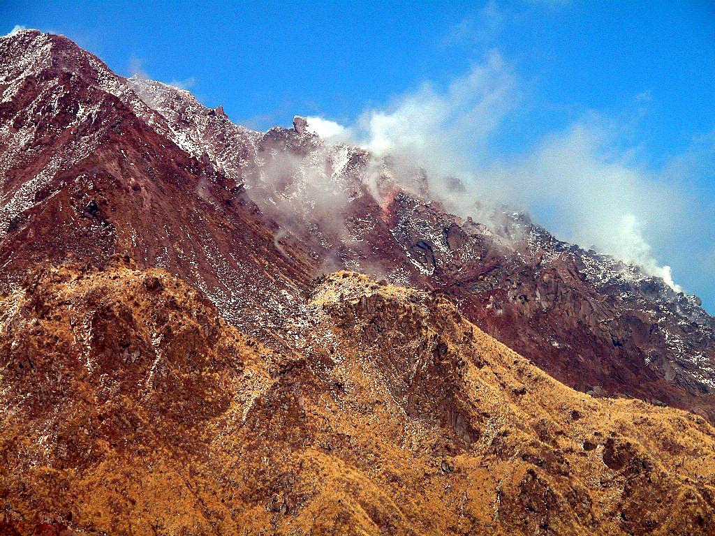 平成新山 噴火の歴史 左クリックで平成新山へ右クリック背景に設定で壁紙へ  壁紙サイズ Twee