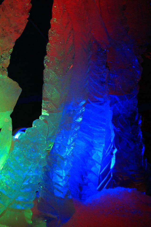熱帯魚の隣にある氷の彫刻640 960 スマホ壁紙iphone用640x960 3 480